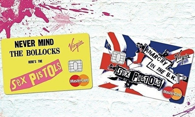 Sex Pistols en carte de credit